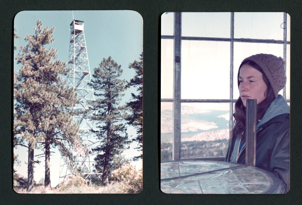 Christine at Johnny George Mountain Lookout  - 1977